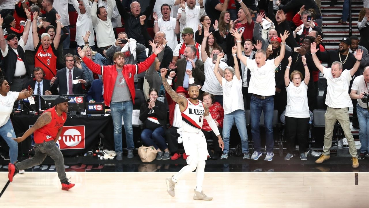 """""""As Damian Lillard hit that shot, I thought we were gonna start an earthquake"""": CJ McCollum hilariously reveals how Portland fans erupted as Dame hit the famous buzzer-beater over Paul George"""