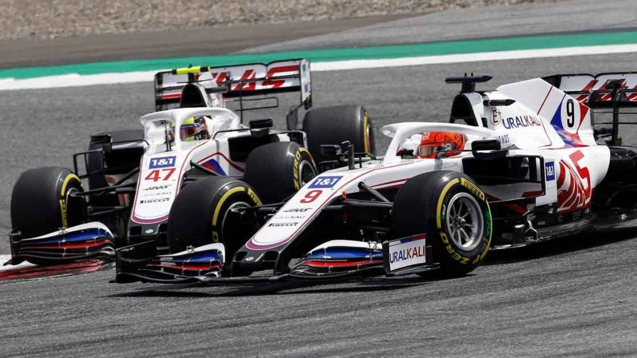WATCH Haas teammates Nikita Mazepin and Mick Schumacher almost collide during the Dutch Grand Prix at Zandvoort