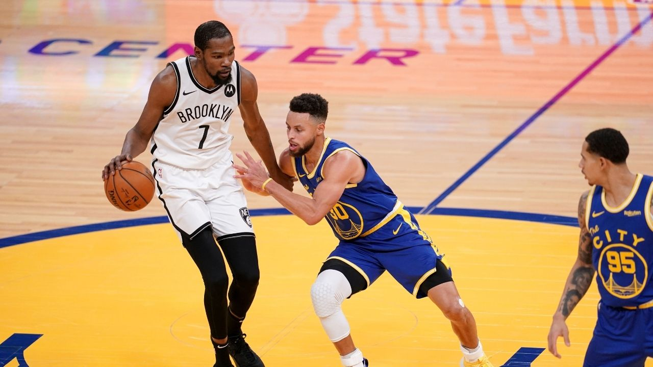 """""""Kyrie Irving is more skilled than Stephen Curry, Steph just shoots"""": Nets' Kevin Durant likes Mike James's extremely controversial take on Instagram"""