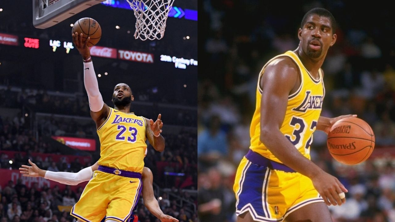 """""""I have 11 NBA championships so LeBron James, I'll need another one"""": Magic Johnson sends his plea to the Lakers superstar to claim another NBA title."""