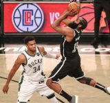 """""""James Harden getting ready to carry the team knowing Kevin Durant and Kyrie Irving not getting the vaccine!"""": NBA Twitter reacts as Nets star adds to his bag to help the Nets win"""