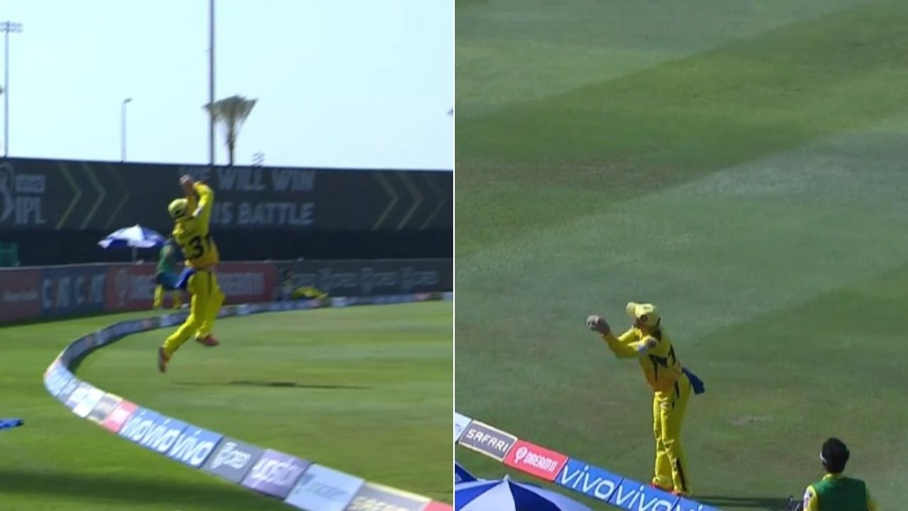 Faf du Plessis catch vs KKR: du Plessis grabs splendid acrobatic catch to dismiss Eoin Morgan in IPL 2021