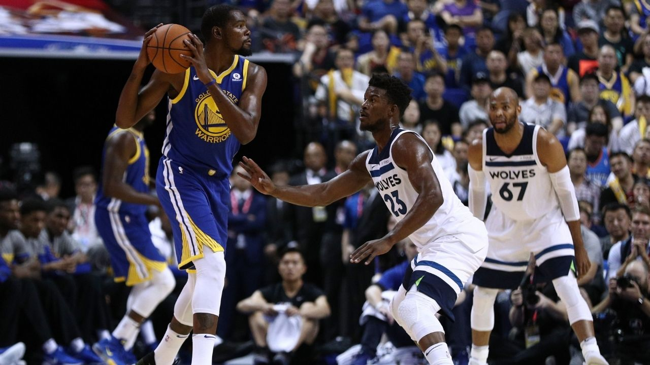 """""""Kevin Durant is some cheat-code stuff, man"""": Jimmy Butler explains how harrowing it is guarding the Nets superstar and why he's NBA's best scorer"""