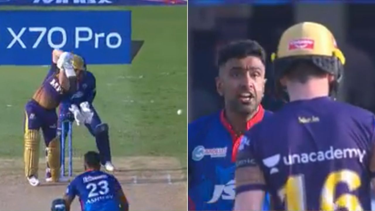 Ashwin sendoff Morgan: Ravi Ashwin dismisses Eoin Morgan for a duck after arguing with him in first innings