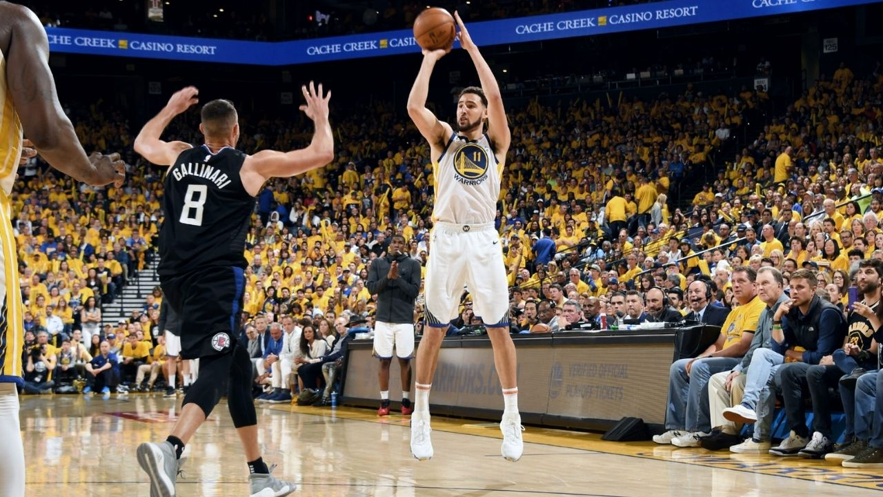 """""""Klay Thompson is a lights out shooter... Quite Literally!"""": When the Warriors' superstar made 80% of his 3s, shooting in a gym with no lights on"""