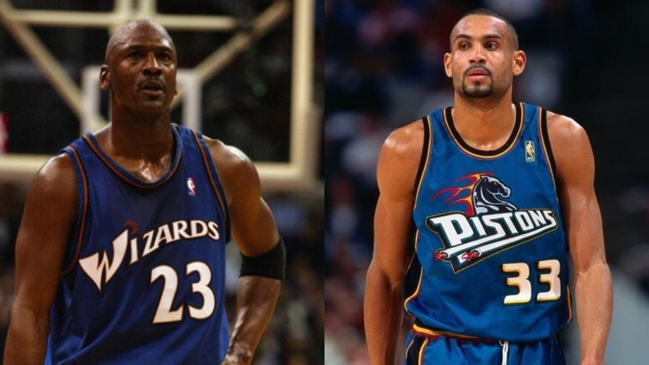 """""""Could not guard a 40 year old Michael Jordan so I went to the locker room"""": When Grant Hill had the Wizards superstar score 20 on him in the first quarter, leading him to quit the game"""