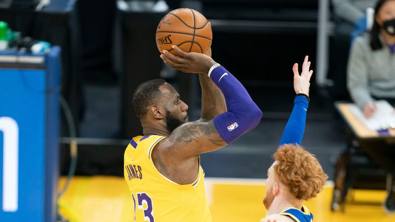 """""""LeBron James only pulls up from the logo for self-promotion!"""": Skip Bayless reveals the Lakers' superstar's abysmal efficiency on a shot he 'invented'"""