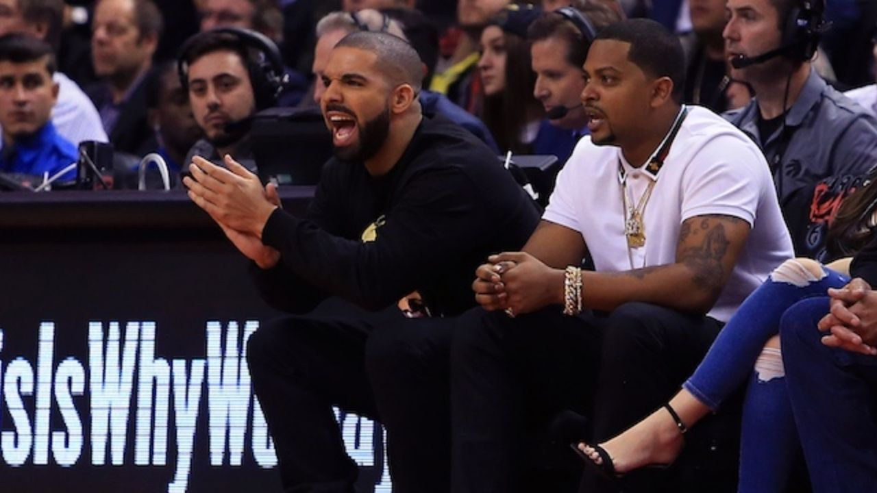 """""""Drake tried to channel his inner Stephen Curry, instead gives us a Shaqtin' A Fool entry"""": NBA Twitter roasts the Canadian rapper as he air-balls a shot against Tory Lanez"""