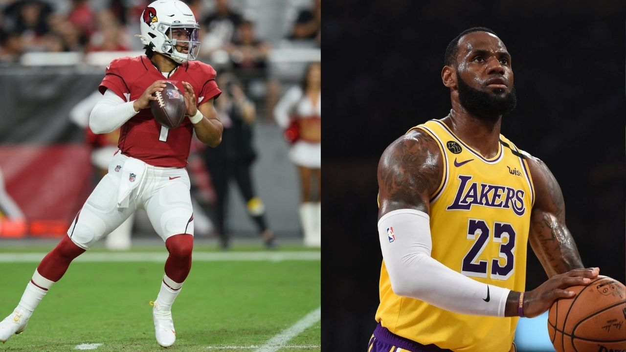 """""""Kyler Murray on 1 today!!! Sheesh man!!"""": LeBron James shouts out Cardinals QB after he torches Tennessee Titans for 5 touchdowns in NFL Week 1"""