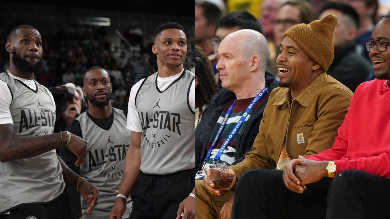 """""""Nas' latest music video features LeBron James and Russell Westbrook"""": The Lakers teammates are seen having an extravagant brunch with the NY rap legend in the video"""