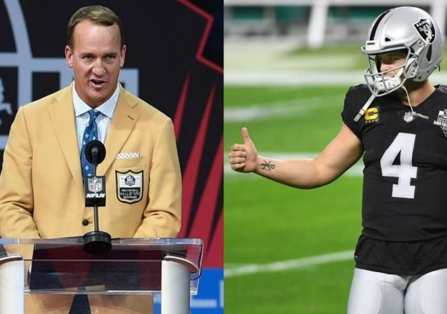"""""""Quiet Down Raiders Fans, Drink Your Beer, and Let Derek Carr Play QB"""": Peyton Manning Puts the Blame On Las Vegas Raiders Fans at Allegiant Stadium For Early Fumble"""