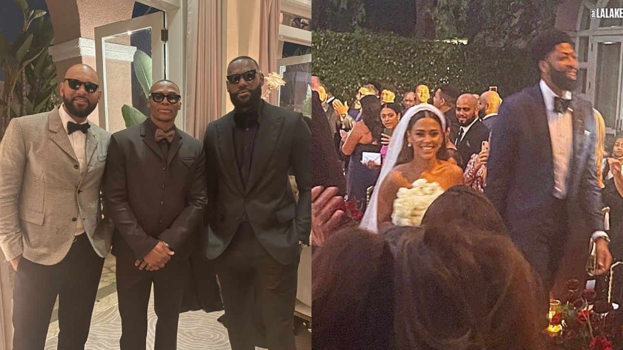 """""""Does Anthony Davis not trust LeBron James to hold on to a ring when it counts?!"""": NBA Twitter erupts as AD doesn't pick King James as the Best-Man for his Wedding"""