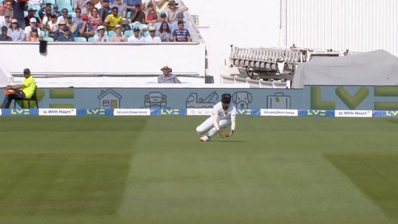 Siraj drop catch today: Mohammed Siraj drops sitter to hand huge reprieve to Haseeb Hameed at The Oval