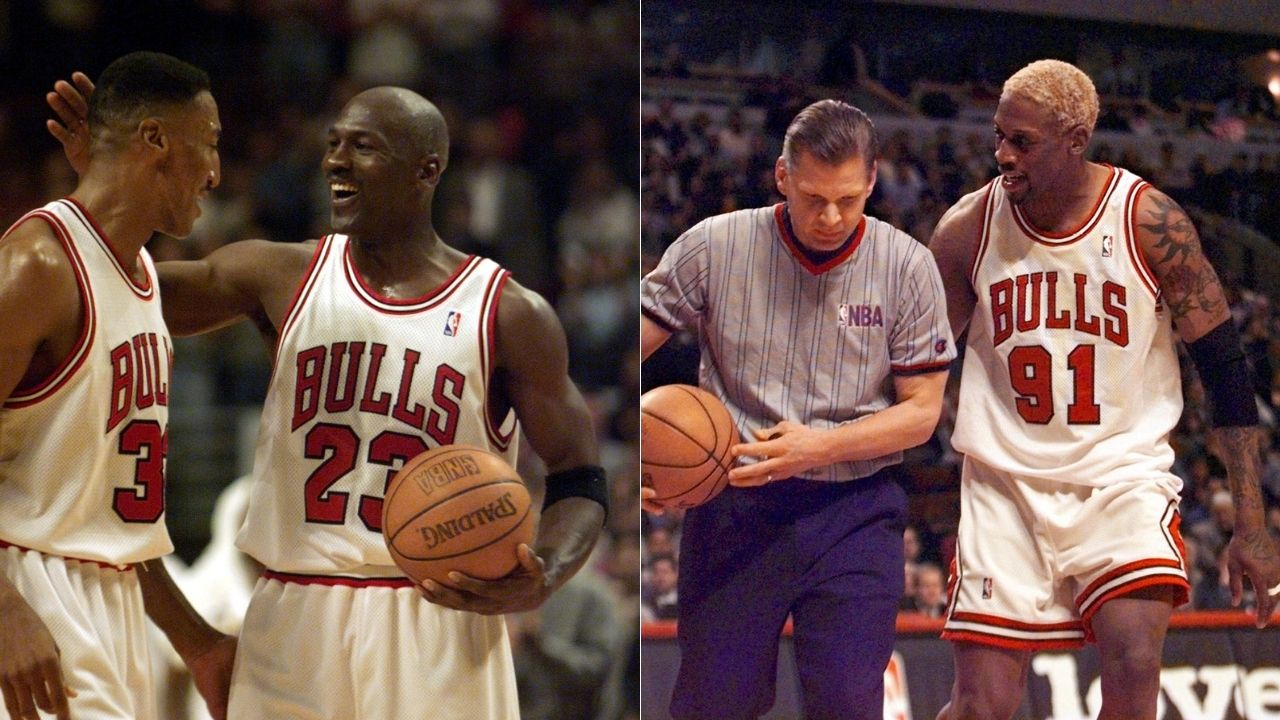 """""""Sometimes I look at them in practice, Michael Jordan and Scottie were like Baryshnikov"""": When Dennis Rodman credited the Bulls legends with saving his life, admitted that he fanboyed for them in practice"""