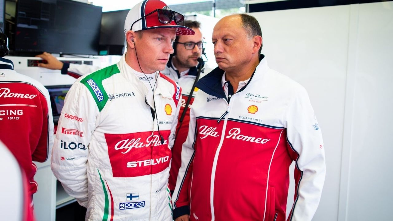 """Let him calm down"" - Fred Vasseur admits Alfa Romeo interest in keeping Kimi Raikkonen as team advisor"