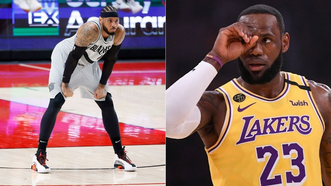 """""""Carmelo Anthony selects himself over LeBron James as his All-time team starter!"""": Lakers star reveals his all-time team list, leaves out King James, Kevin Durant and Shaq as starters"""