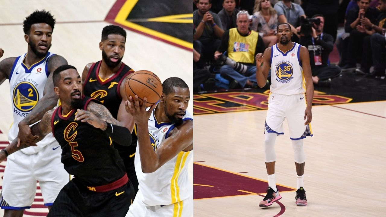 """""""I am happy JR Smith made that decision"""": Former Warriors Finals MVP Kevin Durant on JR Smith's faux pass during Game One of the 2018 NBA Finals"""