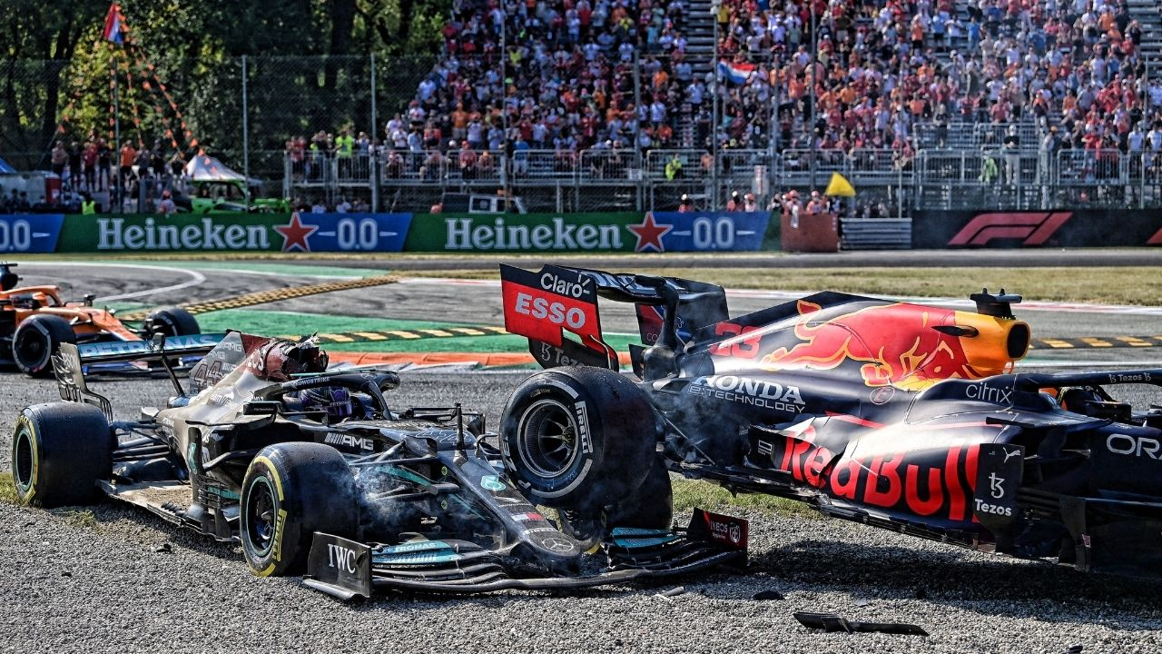 """""""He just kept on squeezing me""""– Max Verstappen blames Lewis Hamilton for not giving him space to even turn the car"""