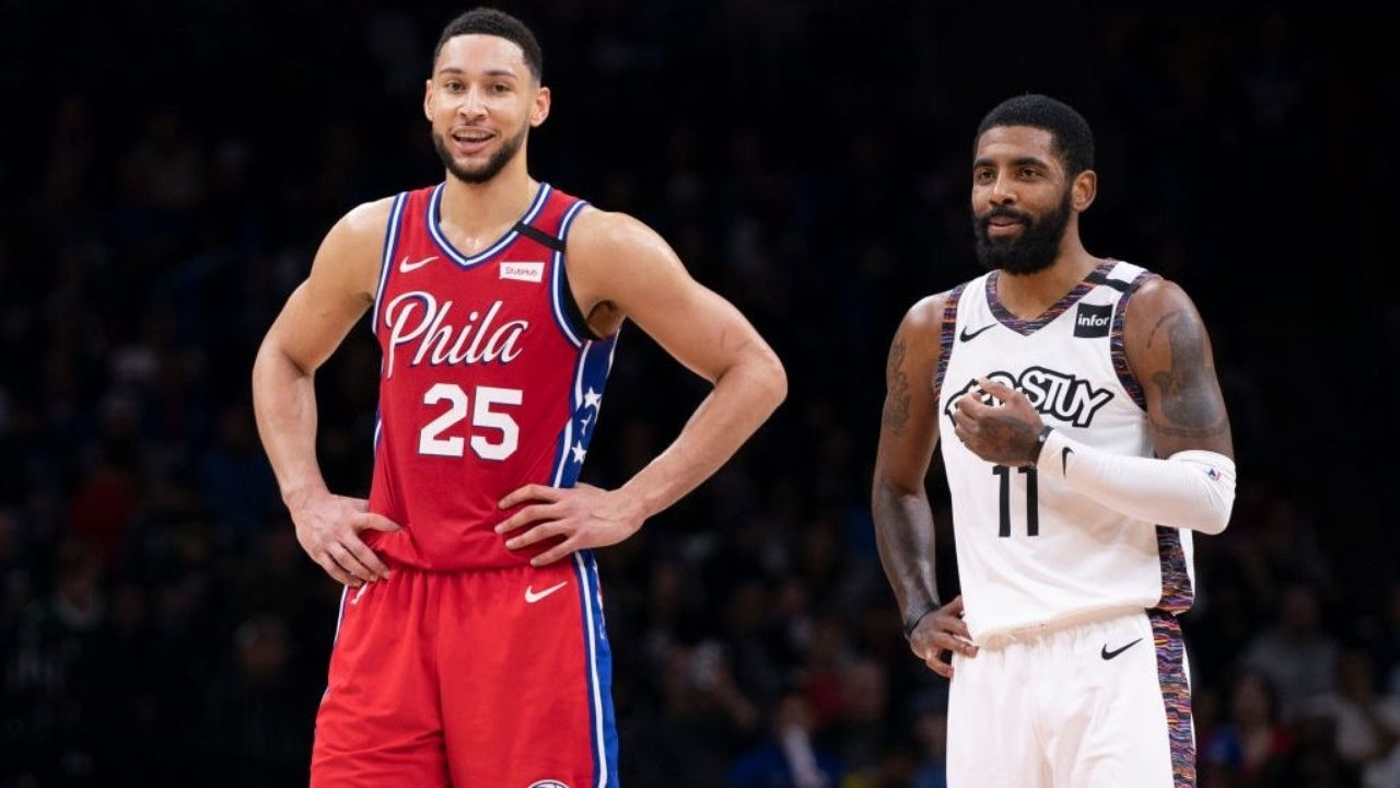 """""""Kyrie Irving for Ben Simmons? The Nets wouldn't even pick up the phone!"""": NBA Twitter explodes as Nick Wright issues yet another controversial hot-take"""
