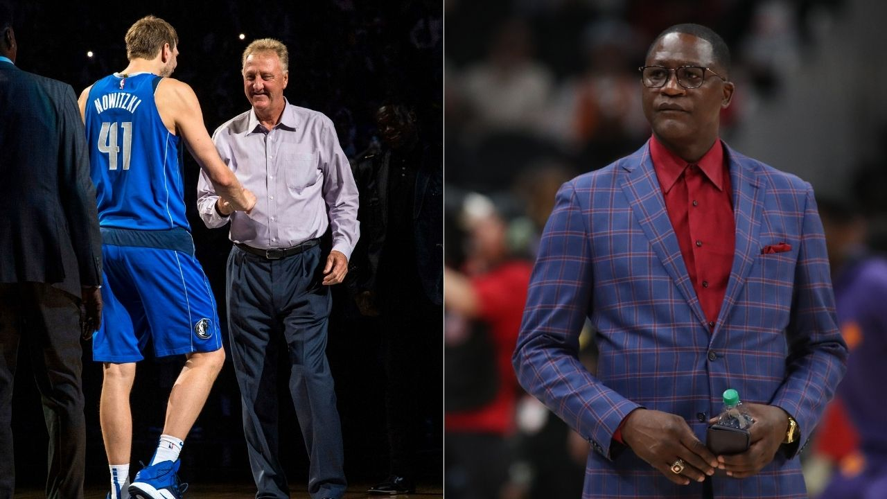 """""""Larry Bird was evil, you couldn't beat him in the half-court"""": Dominique Wilkins gushes over Celtics legend's excellence on the Bill Simmons podcast"""