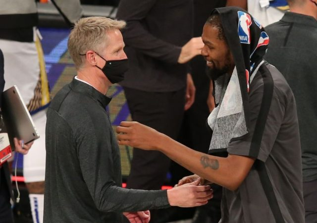 """""""I think we're going to move on"""": Warriors head coach Steve Kerr cleverly responds to Draymond Green's and Kevin Durant's comments against him"""
