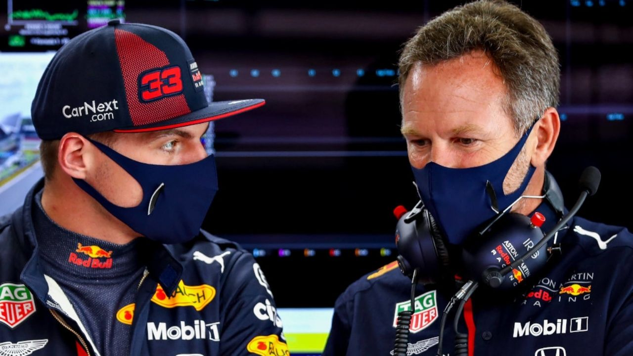 """He's the challenger""– Christian Horner rubbishes Lewis Hamilton's Max Verstappen under pressure claim"