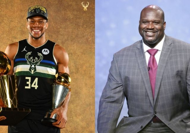"""""""Don't disrespect Giannis Antetokounmpo and the Champions!"""": Shaquille O'Neal shuts down Stephen A. Smith while defending the 'new Superman'"""