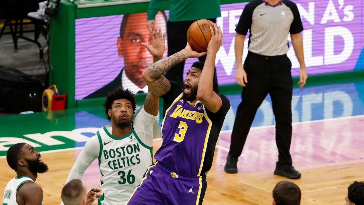 """""""Anthony Davis really had me feeling helpless"""": Boston Celtics guard Marcus Smart describes the horrific experience of guarding the Lakers big man in their first meeting"""