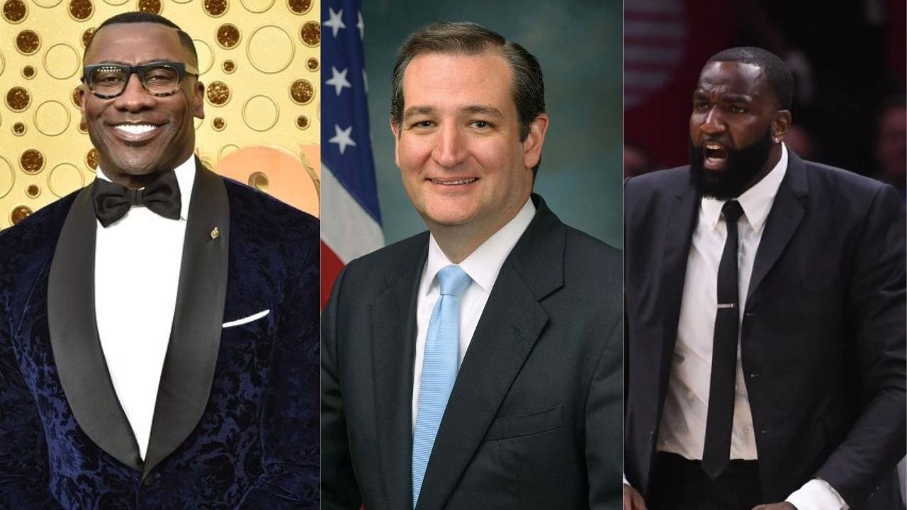 """""""If Ted Cruz stands with you, you should sit down!"""": NBA Analysts Shannon Sharpe and Kendrick Perkins react to the Texas Senator supporting Kyrie Irving and the other unvaccinated players"""