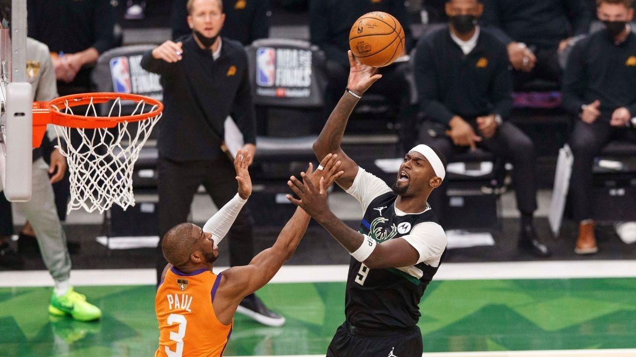 """""""Bobby Portis really did that to Chris Paul?!"""": When the Bucks forward chose to play a cheeky prank on the Suns star during game 6 of the NBA Finals"""