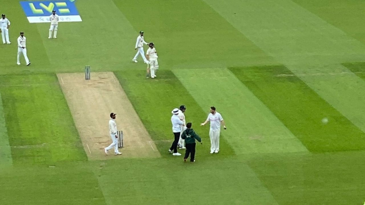 Jarvo cricket pitch invader: Jarvo streaker enters ground to collide with Ollie Pope; Jonny Bairstow unimpressed