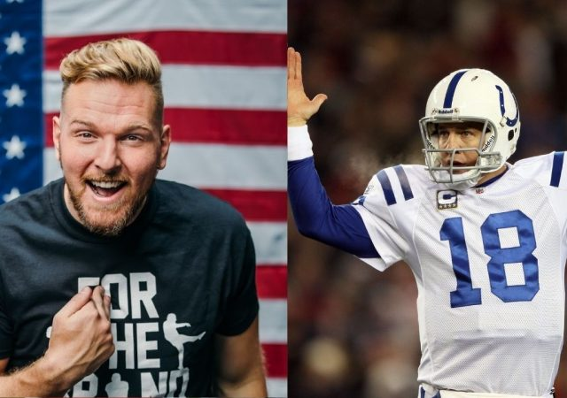 """""""Peyton Manning pointed to the sideline and said 'Get out'"""": Pat McAfee recalls hilarious story about HOF'er benching rookie WR Austin Collie"""
