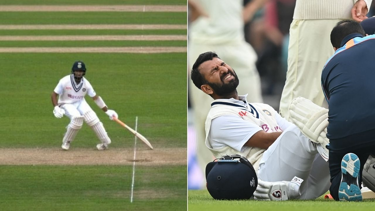 Pujara injury: Cheteshwar Pujara twists ankle while returning for the second run at The Oval