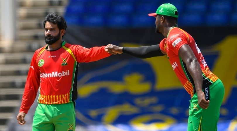 SLK vs GUY Fantasy Prediction: St Lucia Kings vs Guyana Amazon Warriors – 2 August 2021 (St Kitts). Mohammad Hafeez, Imran Tahir, Faf du Plessis, and Roston Chase will be the players to look out for in the Fantasy teams.