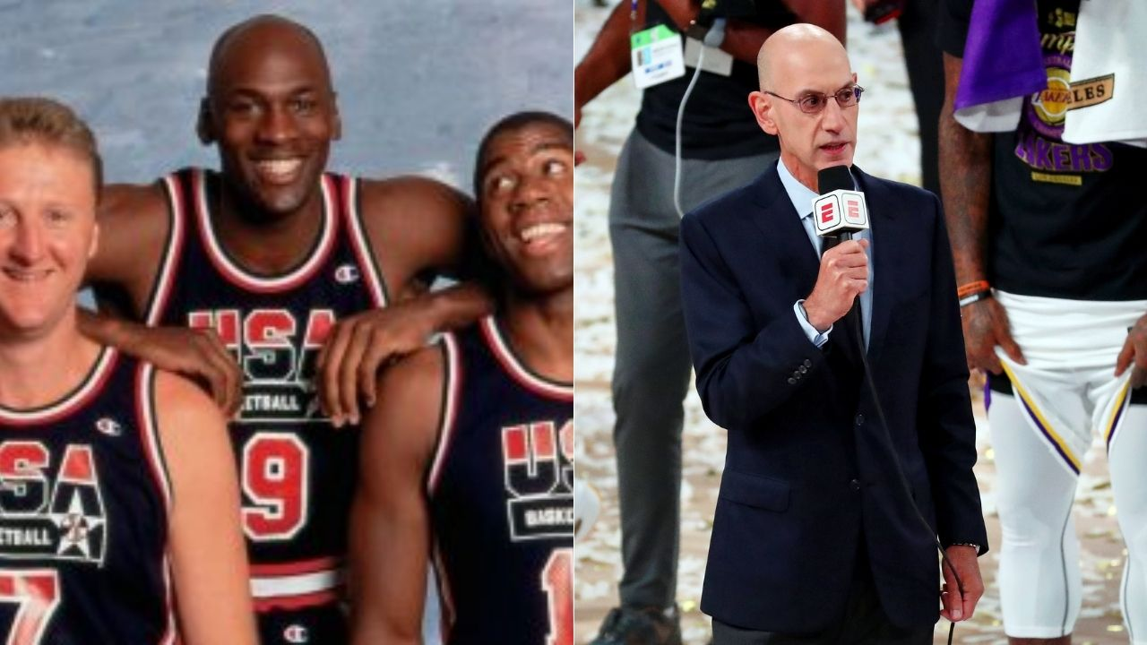 """""""Michael Jordan, Bill Russell, Magic Johnson and Larry Bird"""": NBA Commissioner Adam Silver names the four former players on his Mt Rushmore"""