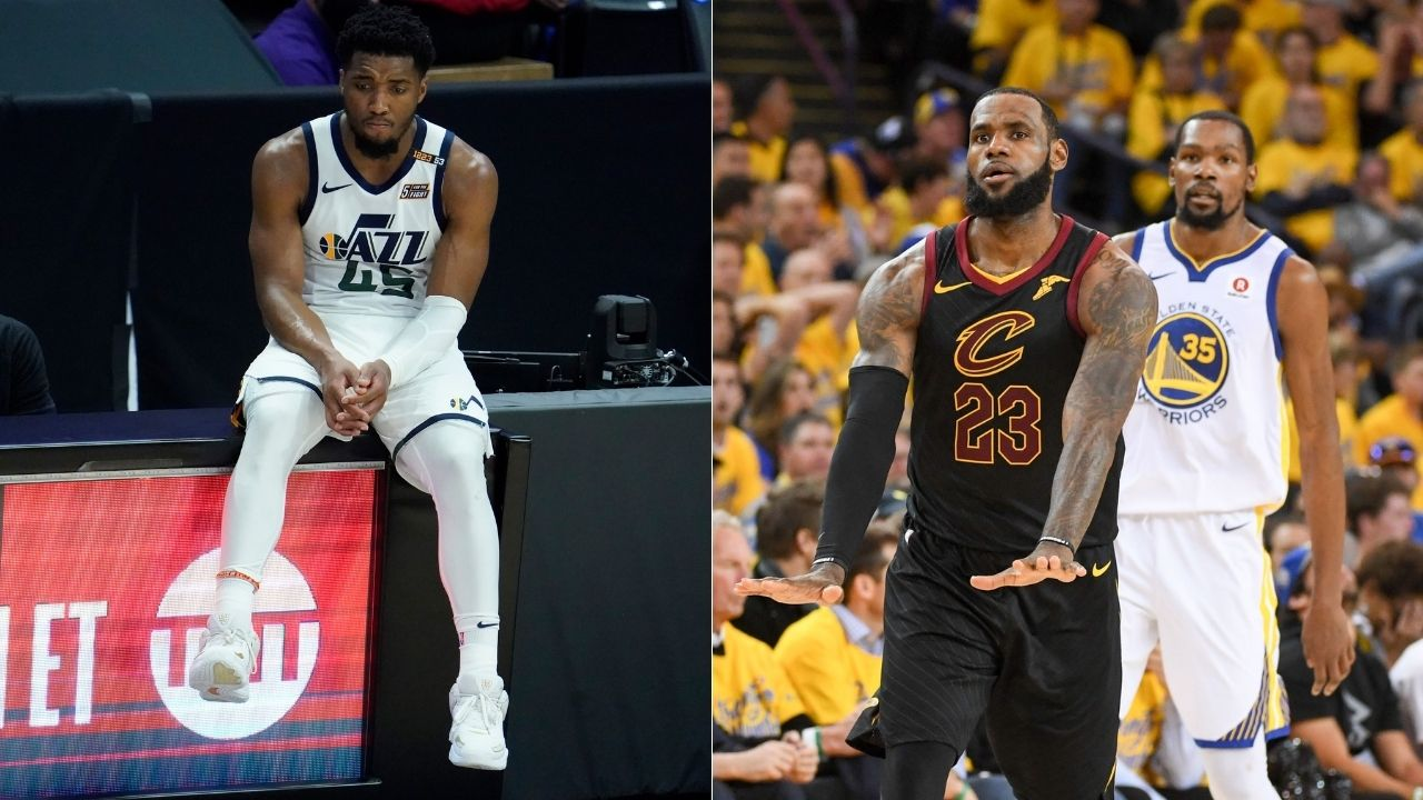 """""""Donovan Mitchell had a beer bottle thrown at him for supporting LeBron James"""": The Jazz star was in complete support of James' decision to join the Miami Heat"""