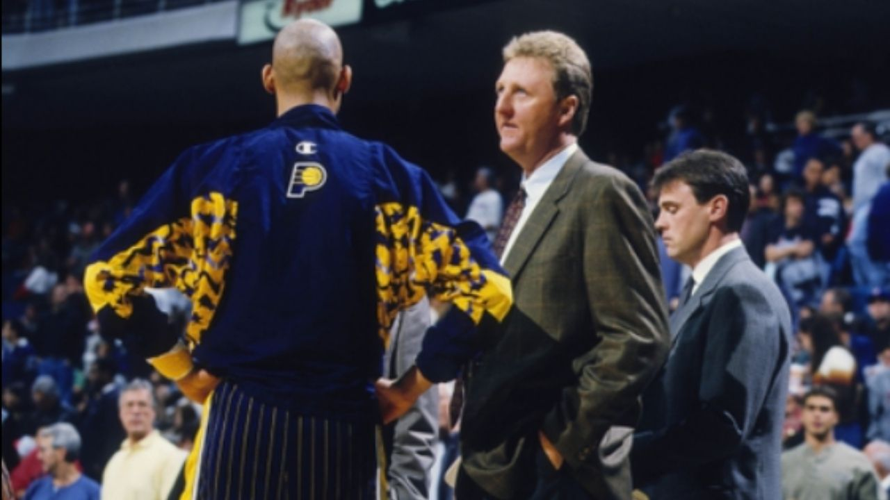 """""""That's just Reggie Miller"""": Larry Bird was all praises for the Pacers legend's legendary one-legged masterclass against Michael Jordan and the Bulls in the 1998 NBA playoffs"""