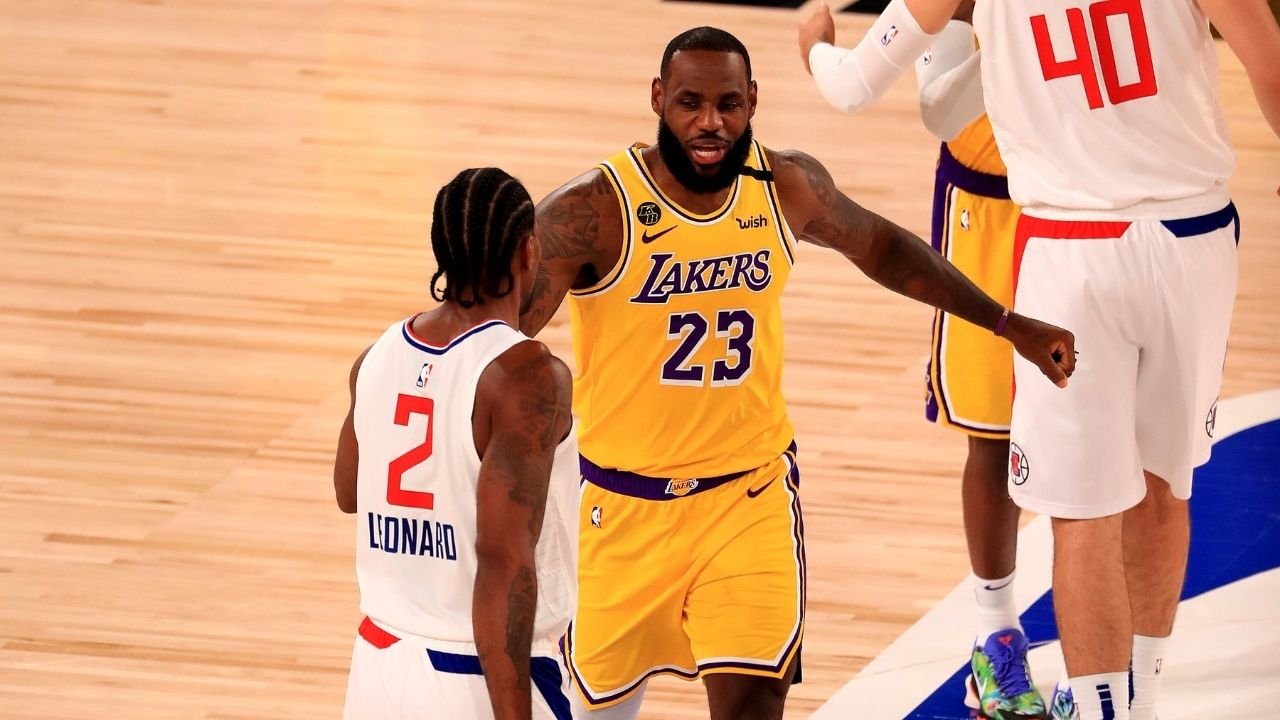 """""""Steve Ballmer is worth $100 BN, but still can't buy his way to a championship!"""": Hardcore Lakers fan Shannon Sharpe roasts the Clippers owner for his inspirational speech"""