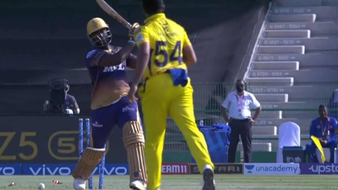 """""""Playing best cricket of his life"""": Twitter reactions on Shardul Thakur dismissing Andre Russell in KKR vs CSK IPL 2021 match"""