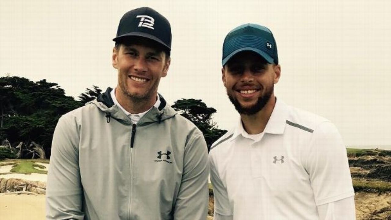"""""""Stephen Curry, whatever you do, don't laser eyes!"""": 7x Super-Bowl Champion Tom Brady drops crypto advice for Warriors' superstar"""