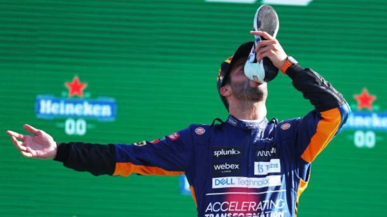 """I like winning, winning is good"" - Daniel Ricciardo on feeling a sense of fulfillment after winning his first race with McLaren"