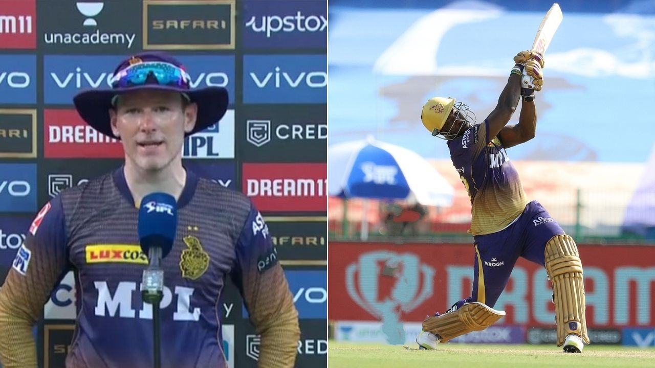 """""""Hope Dre is okay"""": Eoin Morgan hopeful of Andre Russell to be injury-free ahead of Delhi Capitals clash"""