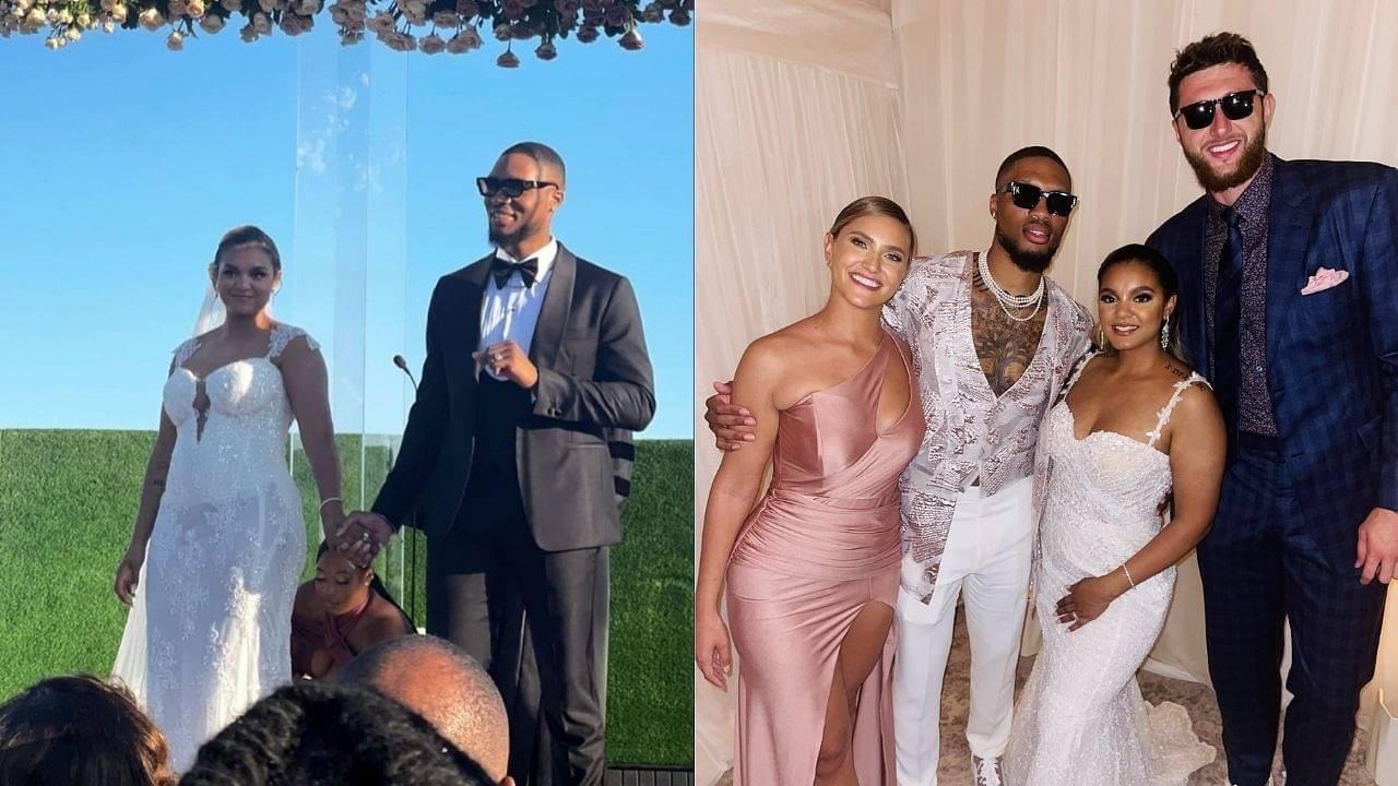 """Uncle Snoop adds flame to Damian Lillard and Kay'la Hanson's big day!"": Snoop Dogg among celebrities lighting up the Blazers' superstar's big day"