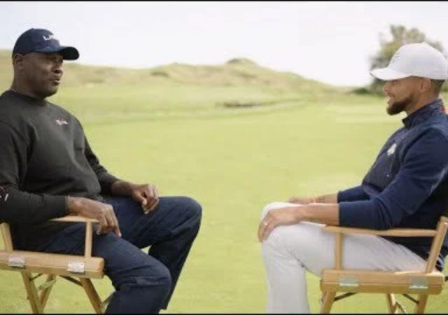 """""""Have to respect losing because losing's a part of winning"""": Michael Jordan drops major knowledge on Stephen Curry while attending the Ryder Cup"""