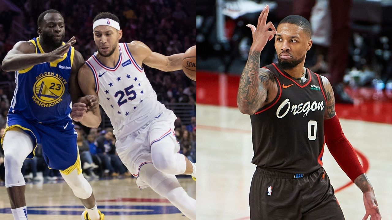 """""""Damian Lillard likes image that places Ben Simmons in Portland"""": Blazers superstar sends NBA fans into a frenzy amidst Sixers DPOY trade rumors"""