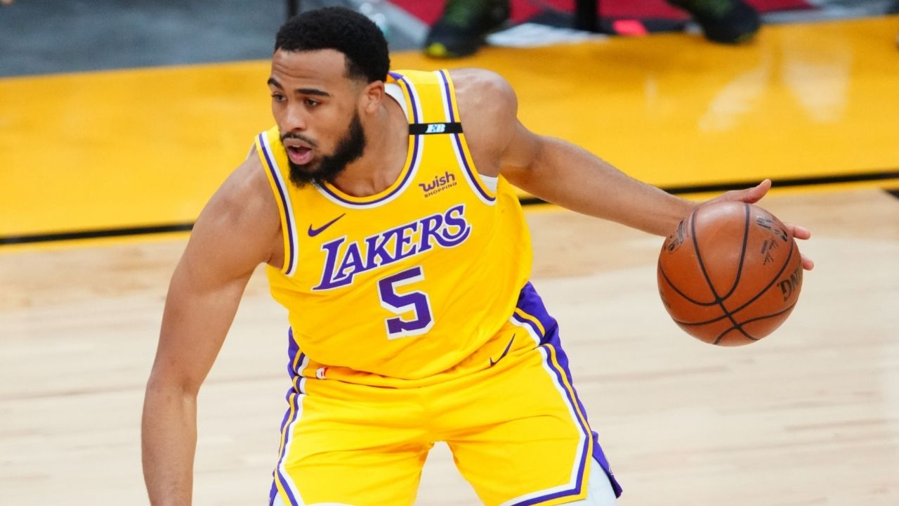 """""""NBA finna test Talen Horton Tucker for cr*ck!"""": NBA Twitter reacts as Lakers young star is caught looking older than LeBron James during Media Day"""