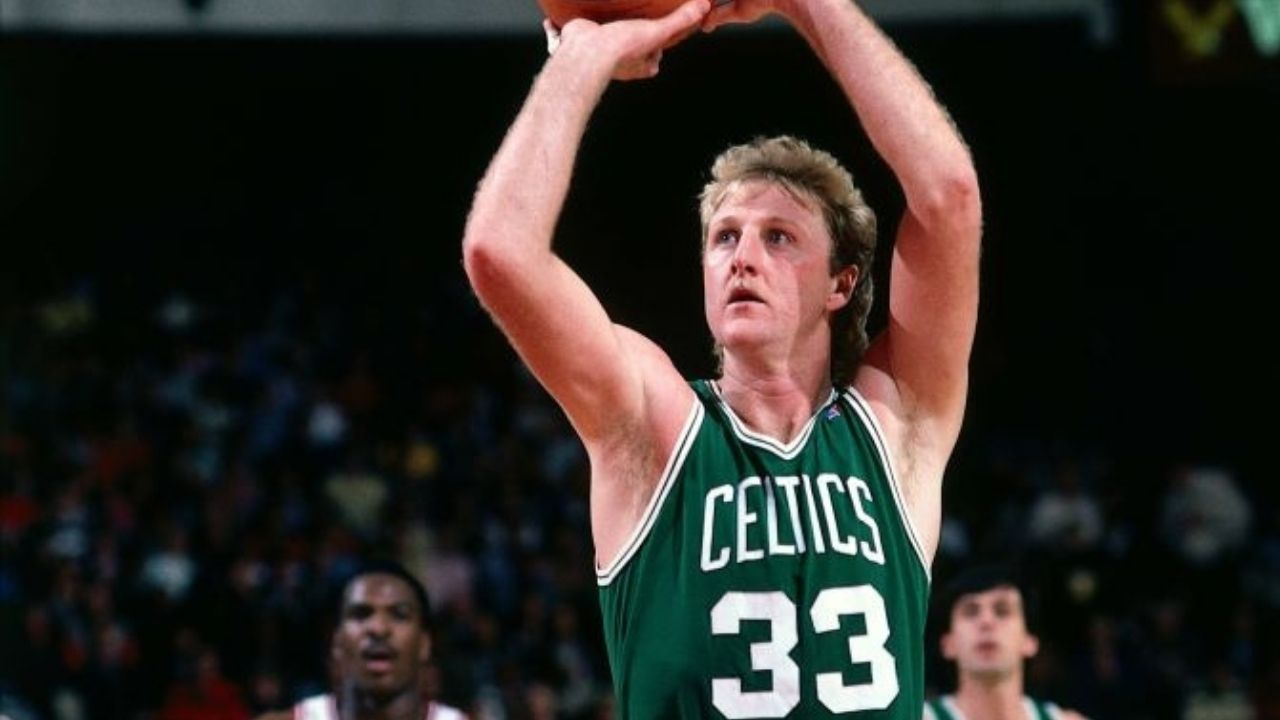 """""""Saving my right hand for the Lakers"""": When Larry Bird nonchalantly scored 47 points on Valentine's Day while using his left hand in anticipation of Magic Johnson and co"""