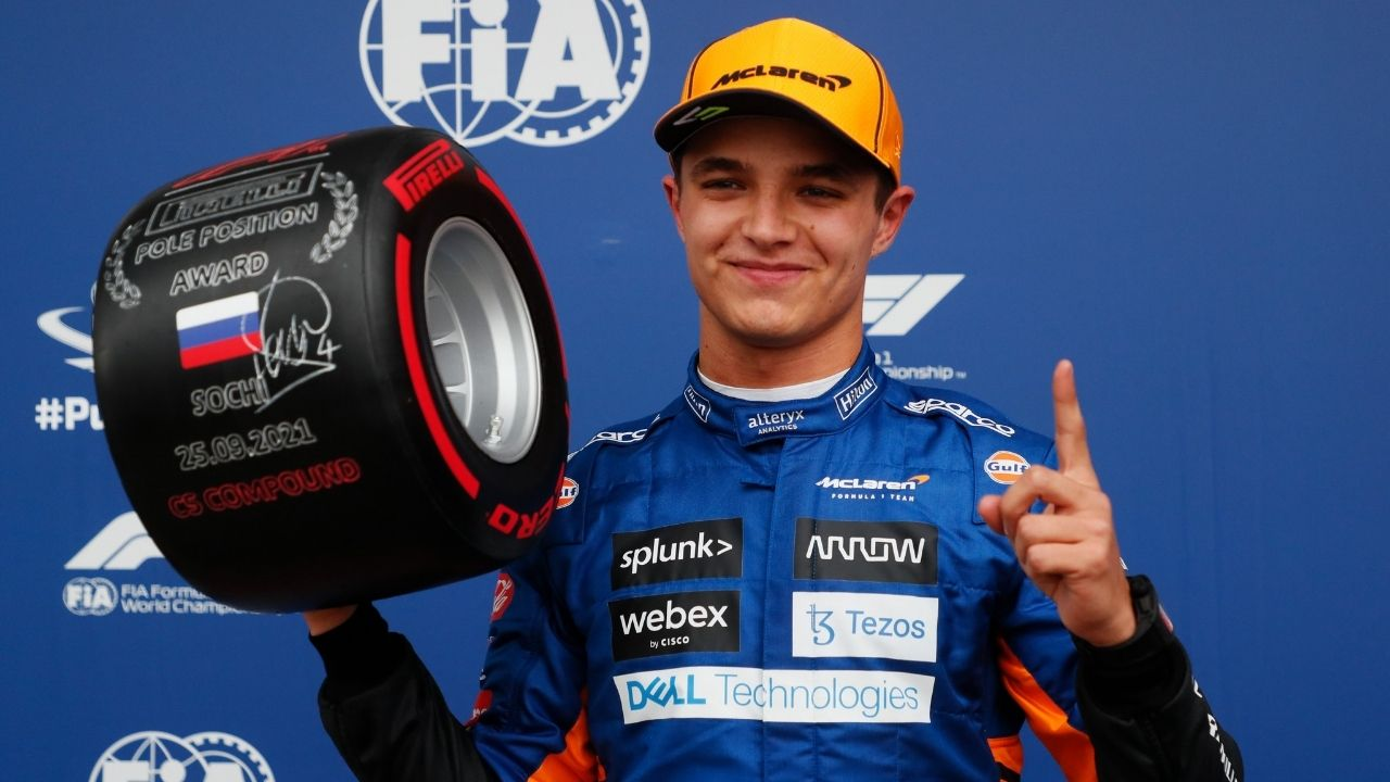 """""""I wasn't very confident""""– Lando Norris after wining pole position in Russian Grand Prix qualifying"""