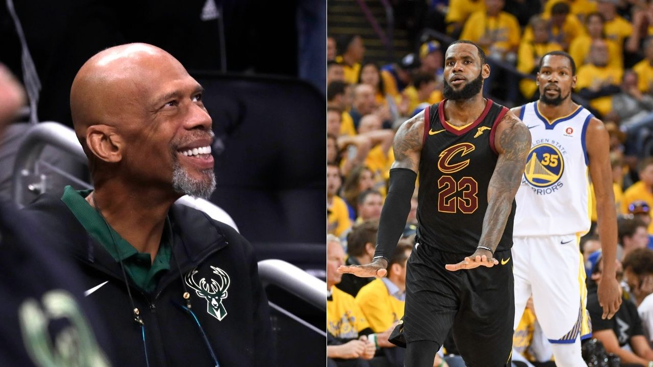 """""""Come here Kevin Durant, I just wanna ask you a question!"""": Kareem Abdul-Jabbar shares hilarious LeBron James meme as Lakers legend advertises his new blog on sport stories"""