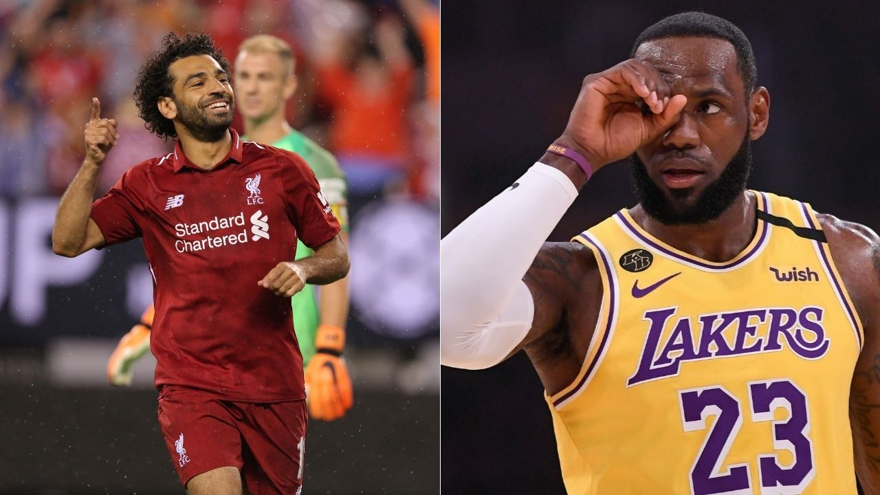 """""""Mohammad Salah marks 150th Premier League appearance with another goal"""": LeBron James congratulates Liverpool legend ahead of their weekend win against Crystal Palace"""